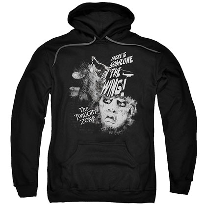 Twilight Zone Someone On The Wing Black Pullover Hoodie