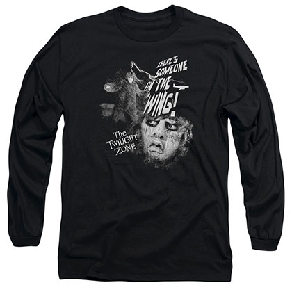 Twilight Zone Someone On The Wing Black Long Sleeve T-Shirt