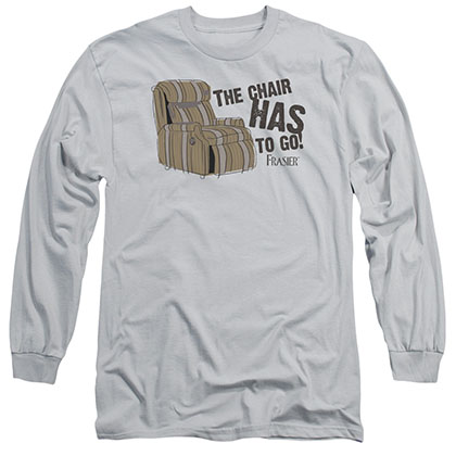 Frasier The Chair Gray Long Sleeve T-Shirt