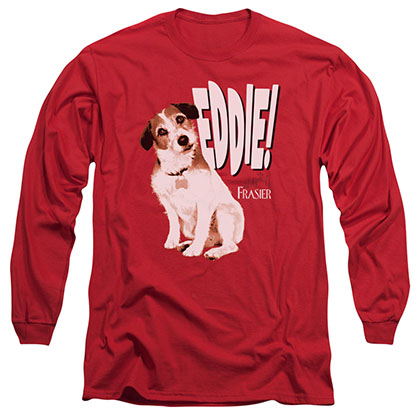 Frasier Eddie Red Long Sleeve T-Shirt