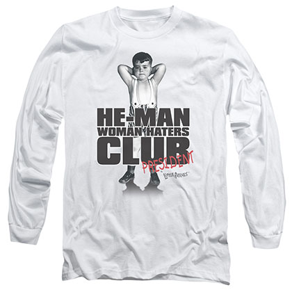 Little Rascals Club President White Long Sleeve T-Shirt