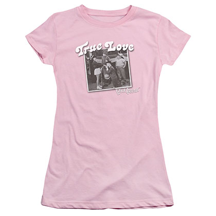Little Rascals True Love Pink Juniors T-Shirt