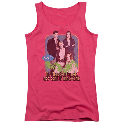 Melrose Place No One Is Innocent Pink Juniors Tank Top