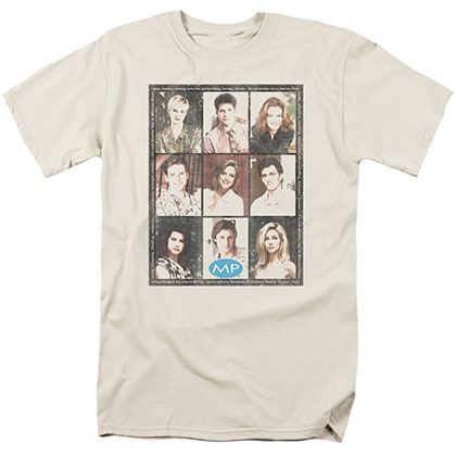 Melrose Place Season 2 Cast Squared Beige T-Shirt