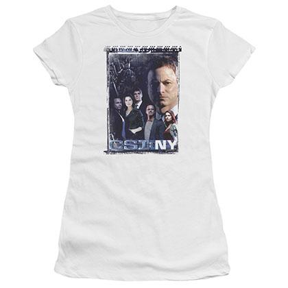 CSI: NY Watchful Eye White Juniors T-Shirt