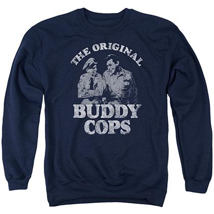 Andy Griffith Buddy Cops Blue Crew Neck Sweatshirt