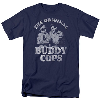 Andy Griffith Buddy Cops Blue T-Shirt