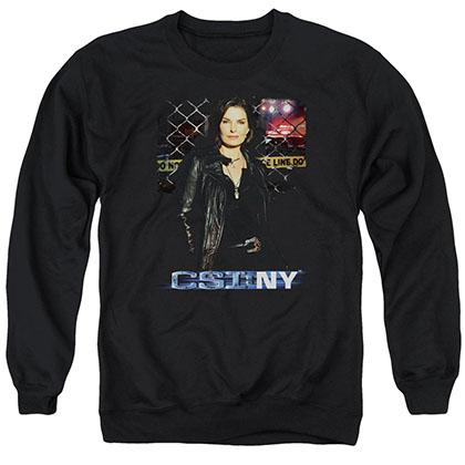 CSI: NY Jo Black Crew Neck Sweatshirt