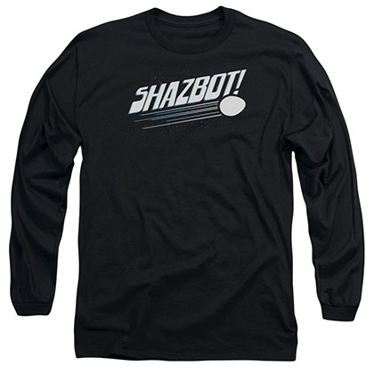 Mork & Mindy Shazbot Egg Black Long Sleeve T-Shirt