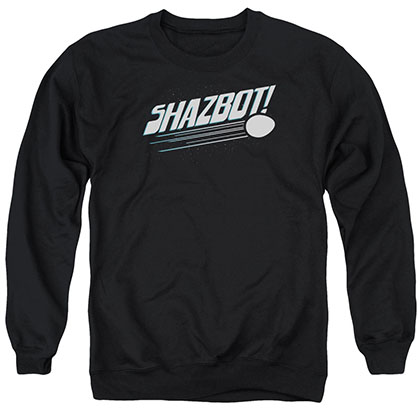 Mork &Amp; Mindy Shazbot Egg Black Crew Neck Sweatshirt