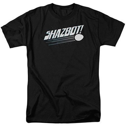 Mork & Mindy Shazbot Egg Black T-Shirt
