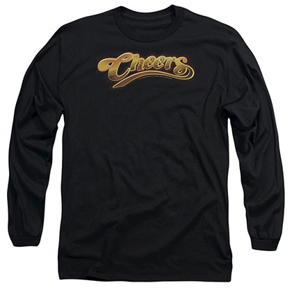 Cheers Cheers Logo Black Long Sleeve T-Shirt