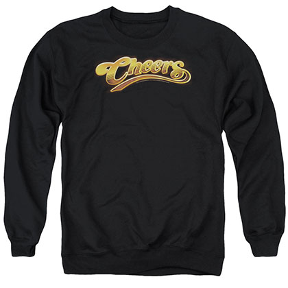 Cheers Cheers Logo Black Crew Neck Sweatshirt