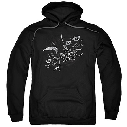 Twilight Zone Strange Faces Black Pullover Hoodie