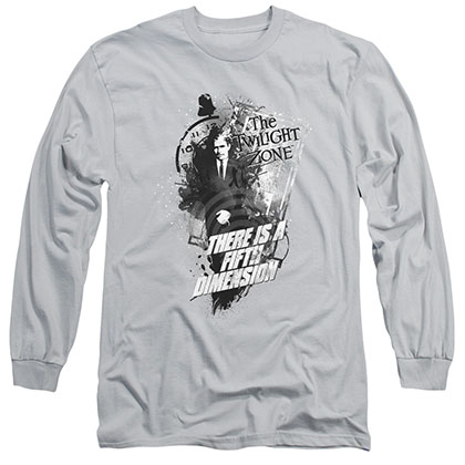 Twilight Zone Fifth Dimension Gray Long Sleeve T-Shirt
