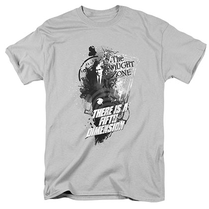 Twilight Zone Fifth Dimension Gray T-Shirt