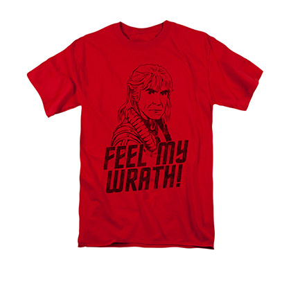 Star Trek Men's Red KHan My Wrath T-Shirt