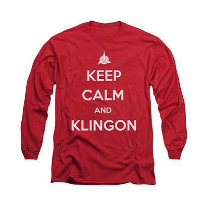 Star Trek Keep Calm And Klingon Red Long Sleeve T-Shirt