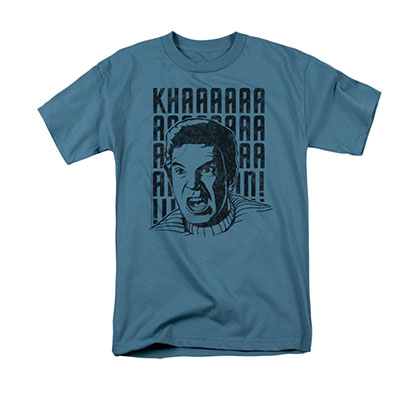 Star Trek Kirk Khan Yell Blue Tee Shirt