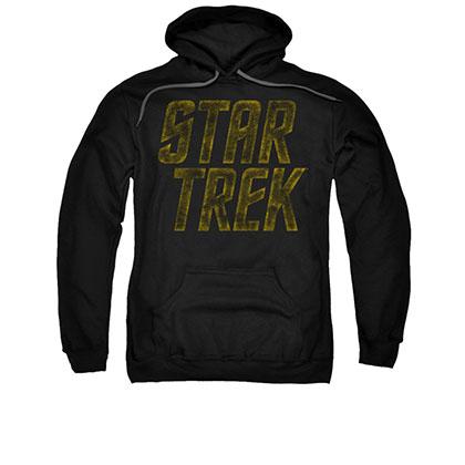 Star Trek Distressed Logo Black Pullover Hoodie