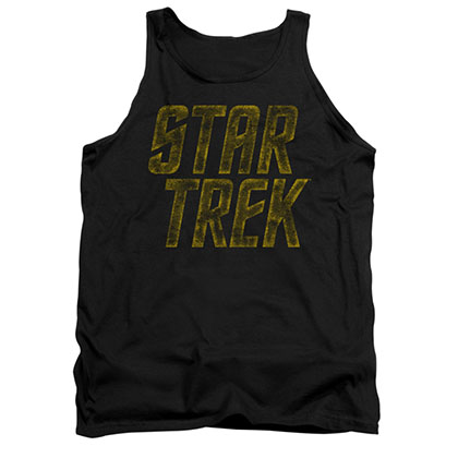 Star Trek Distressed Logo Black Tank Top