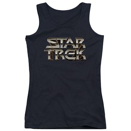 Star Trek Feel The Steel Black Juniors Tank Top