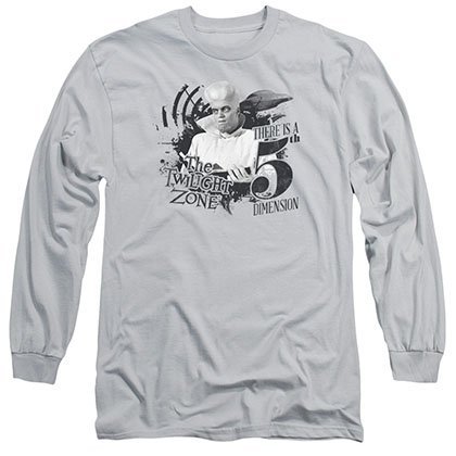 Twilight Zone Invade Gray Long Sleeve T-Shirt