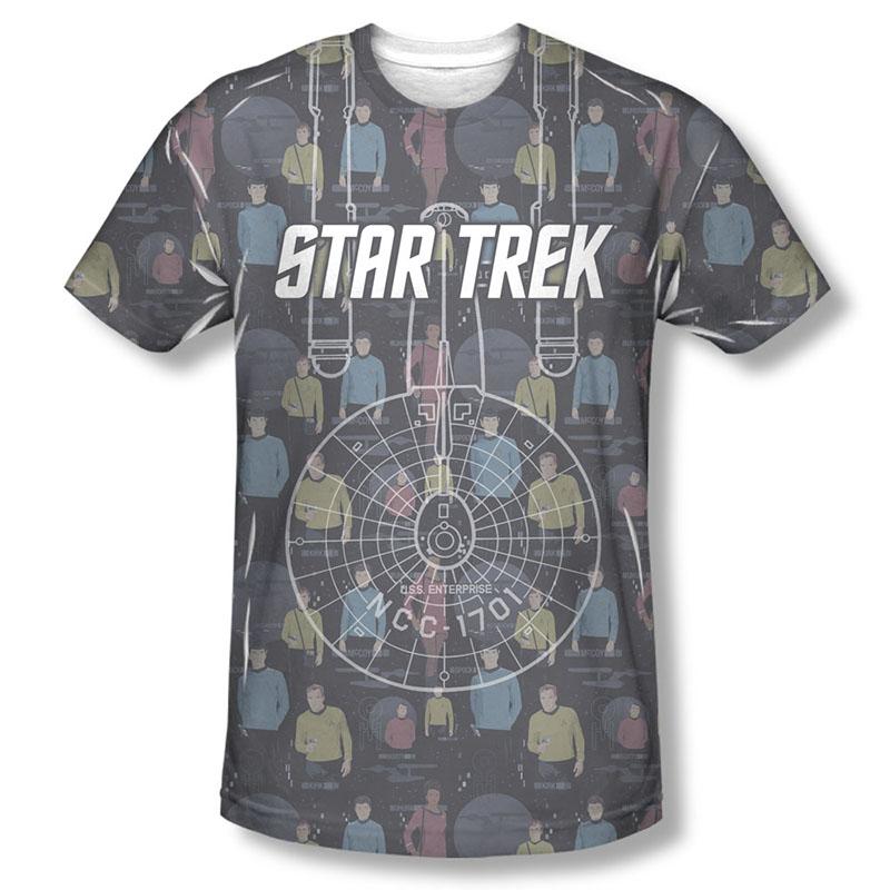 Star Trek Enterprise Crew Sublimation T-Shirt
