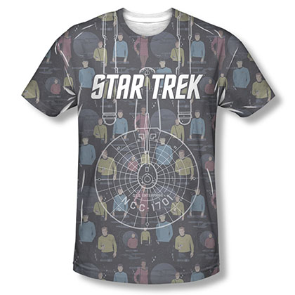 Star Trek Enterprise Crew Sublimation T-Shirt