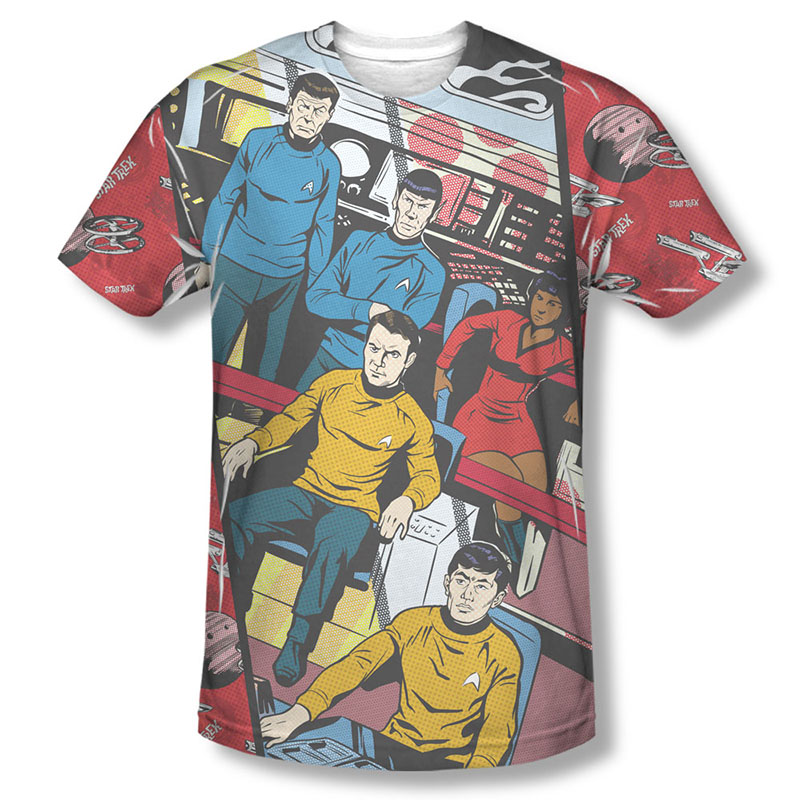 Star Trek Long Panel Sublimation T-Shirt