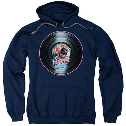 Happy Days On The Record Blue Pullover Hoodie
