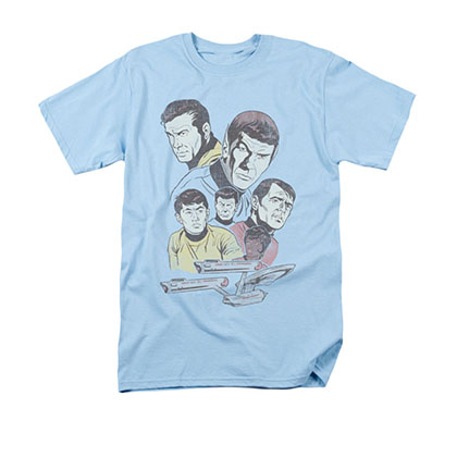 Star Trek Men's Blue Retro Crew Tee Shirt