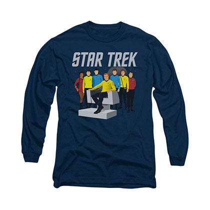 Star Trek Vector Crew Blue Long Sleeve T-Shirt