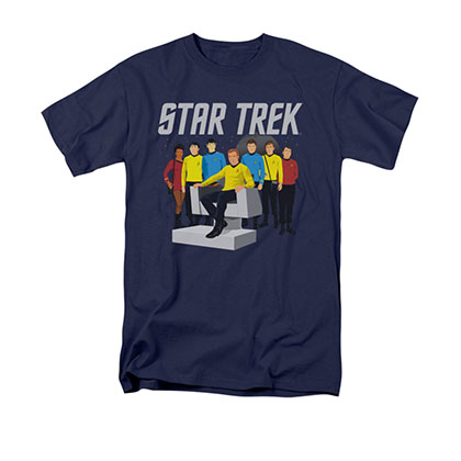Star Trek Vector Crew Blue T-Shirt
