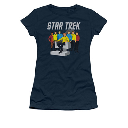 Star Trek Vector Crew Blue Juniors T-Shirt