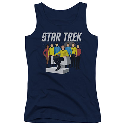 Star Trek Vector Crew Blue Juniors Tank Top