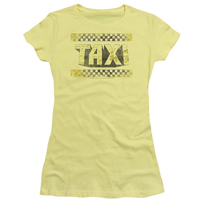 Taxi Run Down Taxi Yellow Juniors T-Shirt