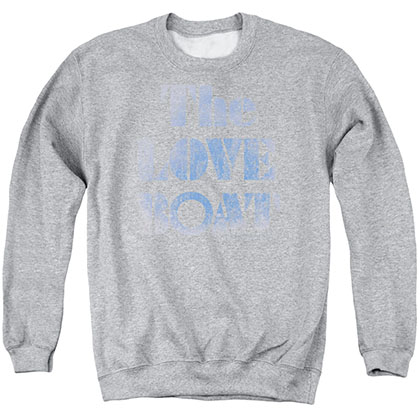 Love Boat Distressed Gray Crew Neck Sweatshirt