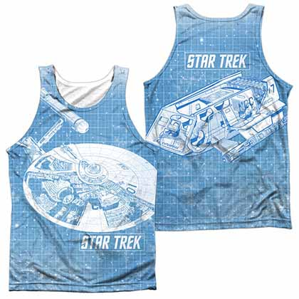 Star Trek Ships Blueprint Sublimation Tank Top