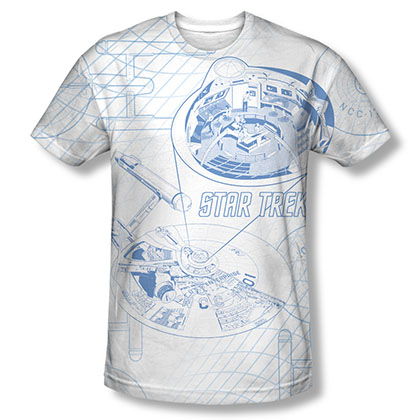 Star Trek Bridge Zoom Sublimation T-Shirt