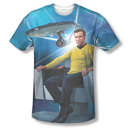 Star Trek Kirk's Ship Sublimation T-Shirt