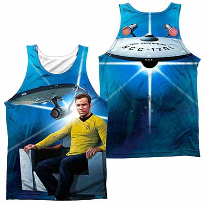 Star Trek Kirk's Ship Sublimation Tank Top