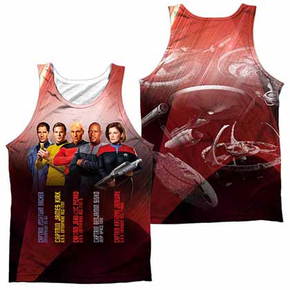 Star Trek Captains Sublimation Tank Top