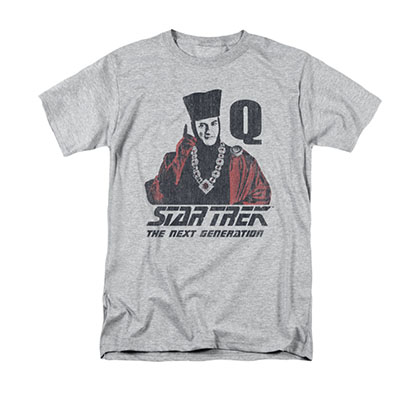 Star Trek TNG Q Point Gray T-Shirt