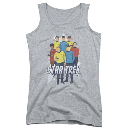 Star Trek Here Here Gray Juniors Tank Top