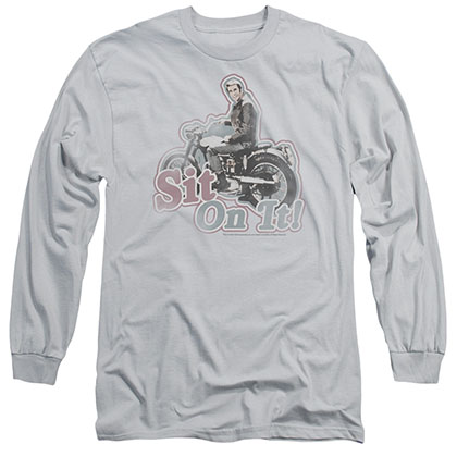 Happy Days Sit On It! Gray Long Sleeve T-Shirt