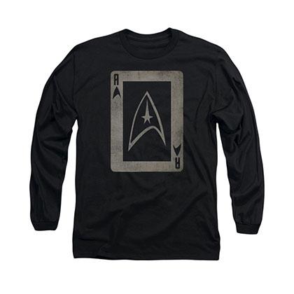 Star Trek TOS Ace Black Long Sleeve T-Shirt