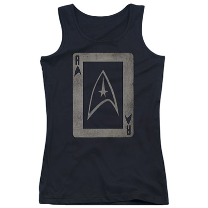 Star Trek TOS Ace Black Juniors Tank Top