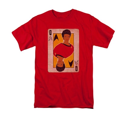 Star Trek TOS Uhura Queen Card Red T-Shirt
