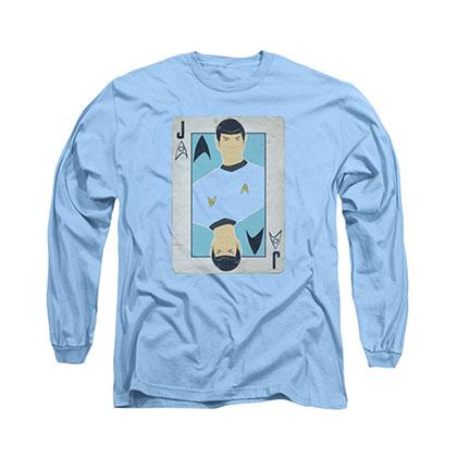 Star Trek TOS Spock Jack Blue Long Sleeve T-Shirt